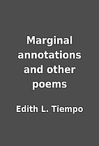 Marginal annotations and other poems by…