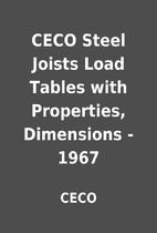 CECO Steel Joists Load Tables with…