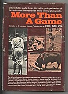 More than a game by A. Lawrance Holmes