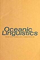 Oceanic Linguistics XXVII 1/2