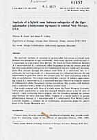 Journal of Evolutionary Biology - Analysis…