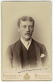 Author photo. Sir Fairfax Leighton Cartwright by Fritz Leyde & Co albumen cabinet card, 1880s 5 3/4 in. x 3 7/8 in. (145 mm x 100 mm) image size