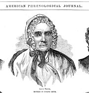 Author photo. Lucy Mack Smith. From the American Phrenological Journal (1839-1850).