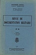 Revue de documentation militaire n°78, 1er…
