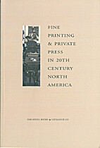 Fine Printing & Private Press in 20th…