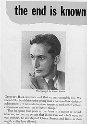 Author photo. Author picture from the flap of the first edition of <i>The end is known</i> (Simon and Schuster, 1949).
