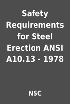 Safety Requirements for Steel Erection ANSI…