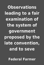 Observations leading to a fair examination…