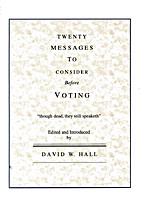 Twenty Messages to Consider Before Voting by…