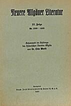 Neuere Allgäuer Literatur XV. Folge Nr.…