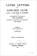 Later letters of Edward Lear, author of The…