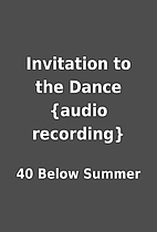 Invitation to the Dance {audio recording} by…