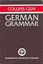 Collins Gem German Grammar by Ilse McLean