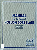 PCI manual for the design of hollow core…