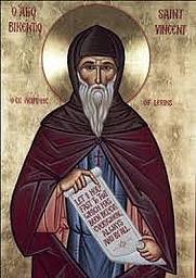Author photo. Saint Vincent of Lérins / Icon