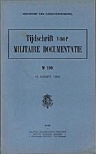 Tijdschrift voor militaire documentatie Nr…