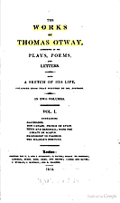 The complete works of Thomas Otway by Thomas…