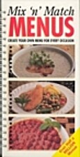 Mix 'n' Match Menus. Create your own menu…