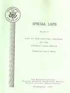 Special Lists List of Cartographic Records…