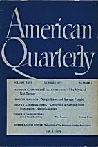 American Quarterly (Vol XXIII| No. 4|…