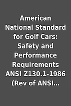 American National Standard for Golf Cars:…