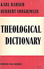 Theological Dictionary by Karl Rahner