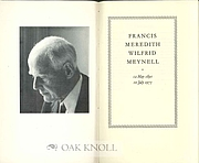 Author photo. From <a href=&quot;http://www.oakknoll.com/pages/books/112239/alix-meynell/francis-meredith-wilfred-meynell-12-may-1891-10-july-1975&quot; rel=&quot;nofollow&quot; target=&quot;_top&quot;>Oak Knoll Books</a>