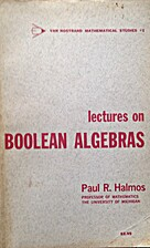 Lectures on Boolean Algebras by Steven…
