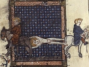 Author photo. The Martyrdom of St. Hippolytus, 14th century