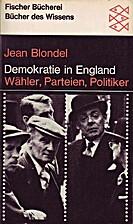 Demokratie in England by Jean Blondel