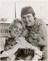 Author photo. Frances Hanckel (left) and Ada Bello (right)  Photo by Kay Tobin <br> Courtesy of the <a href=&quot;http://digitalgallery.nypl.org/nypldigital/id?1606331&quot;>NYPL Digital Gallery</a> (image use requires permission from the New York Public Library)
