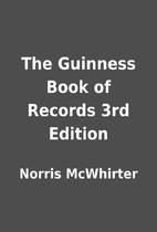 The Guinness Book of Records 3rd Edition by…