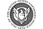 Author photo. Seal of the United States Copyright Office
