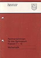 Rahmenrichtlinien für das Gymnasium…