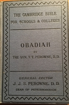 Obadiah and Jonah by T. T. Perowne
