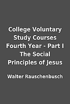 College Voluntary Study Courses Fourth Year…