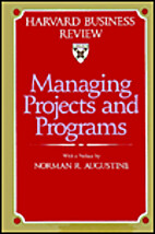 Managing Projects and Programs (The Harvard…