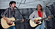 Author photo. Jimmie Dale Gilmore & Colin Gilmore  (Photo by Steve Hopson, 2004 ~ Wikipedia)