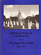 Genealogical extracts from the Eganville…