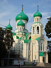 Author photo. Russian Orthodox Church of St Michael and St Constantine, Vilnius, Lithuania.  Photo by user Umnik / Wikimedia Commons.