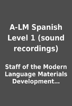 A-LM Spanish Level 1 (sound recordings) by…