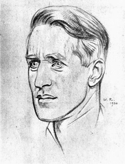 Author photo. Image from <b><i>Twenty-four portraits</i></b> (1920) by William Rothenstein