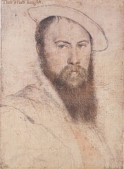 Author photo. Sir Thomas Wyatt, by Hans Holbein the Younger. Royal Collection, Windsor Castle.