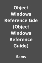 Object Windows Reference Gde (Object Windows…