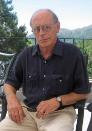 Author photo. Antonio Tabucchi en los Cursos de Verano de El Escorial, 2008.