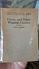 Dante And The Other Waning Classics Volumes…