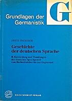 Grundlagen der Germanistik - Geschichte der…