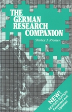 The German Research Companion by Shirley J…