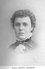 Author photo. Eliza Happy Morton (b.1852), Buffalo Electrotype and Engraving Co., Buffalo, N.Y.