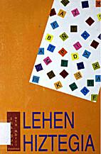 Lehen hiztegia by Julia MARIN